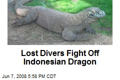 Lost Divers Fight Off Indonesian Dragon