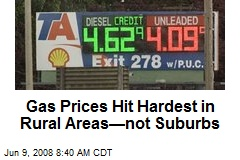 Gas Prices Hit Hardest in Rural Areas—not Suburbs