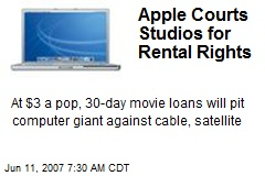 Apple Courts Studios for Rental Rights