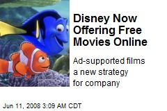 Disney Now Offering Free Movies Online