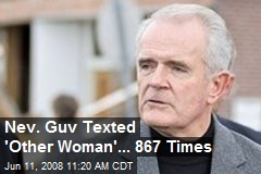 Nev. Guv Texted 'Other Woman'... 867 Times