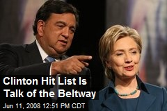 Clinton Hit List Is Talk of the Beltway