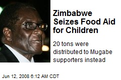 Zimbabwe Seizes Food Aid for Children