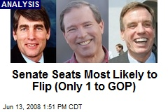 Senate Seats Most Likely to Flip (Only 1 to GOP)