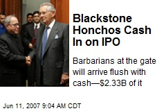 Blackstone Honchos Cash In on IPO