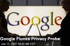 Google Flunks Privacy Probe