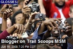 Blogger on Trail Scoops MSM
