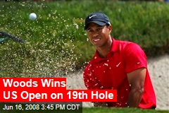 Woods Wins US Open on 19th Hole