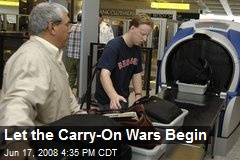 Let the Carry-On Wars Begin