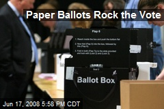 Paper Ballots Rock the Vote