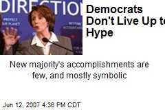 Democrats Don't Live Up to Hype