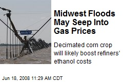 Midwest Floods May Seep Into Gas Prices