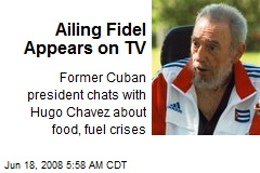Ailing Fidel Appears on TV