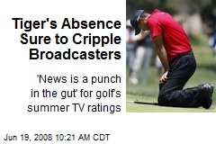 Tiger's Absence Sure to Cripple Broadcasters
