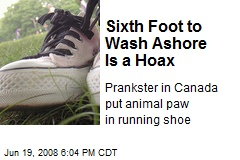 Sixth Foot to Wash Ashore Is a Hoax