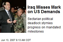 Iraq Misses Mark on US Demands