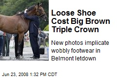 Loose Shoe Cost Big Brown Triple Crown