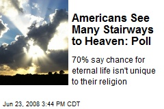 Americans See Many Stairways to Heaven: Poll