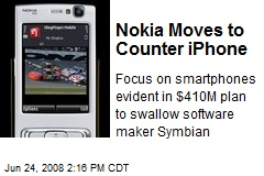 Nokia Moves to Counter iPhone