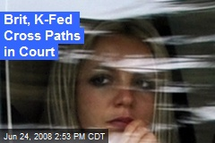 Brit, K-Fed Cross Paths in Court