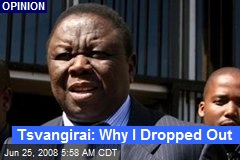 Tsvangirai: Why I Dropped Out
