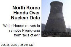 North Korea Hands Over Nuclear Data