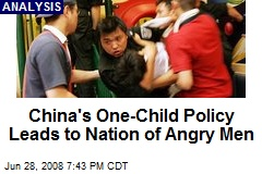 China's One-Child Policy Leads to Nation of Angry Men