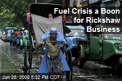 Fuel Crisis a Boon for Rickshaw Business