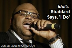 Idol's Studdard Says, 'I Do'