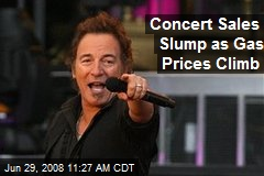 Concert Sales Slump as Gas Prices Climb