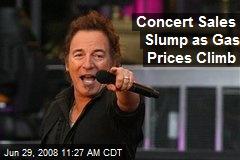 Concert Sales Slump as Gas Prices Climb