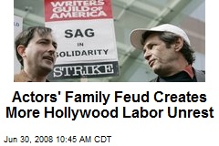 Actors' Family Feud Creates More Hollywood Labor Unrest