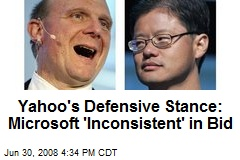 Yahoo's Defensive Stance: Microsoft 'Inconsistent' in Bid