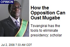 How the Opposition Can Oust Mugabe