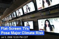 Flat-Screen TVs Pose Major Climate Risk