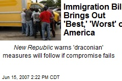 Immigration Bill Brings Out 'Best,' 'Worst' of America