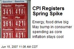 CPI Registers Spring Spike