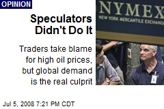 Speculators Didn't Do It