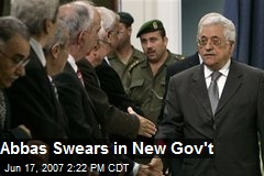 Abbas Swears in New Gov't