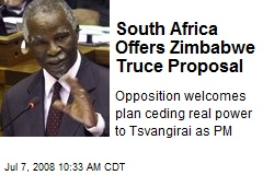 South Africa Offers Zimbabwe Truce Proposal