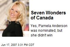Seven Wonders of Canada