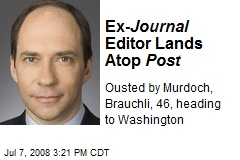 Ex- Journal Editor Lands Atop Post