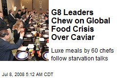 G8 Leaders Chew on Global Food Crisis Over Caviar