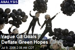 Vague G8 Goals Deflate Green Hopes