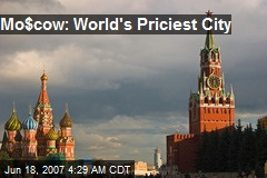 Mo$cow: World's Priciest City
