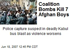 Coalition Bombs Kill 7 Afghan Boys