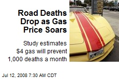 Road Deaths Drop as Gas Price Soars