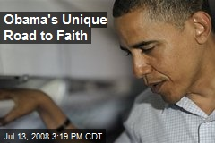Obama's Unique Road to Faith