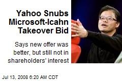 Yahoo Snubs Microsoft-Icahn Takeover Bid