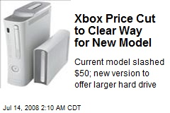 Xbox Price Cut to Clear Way for New Model